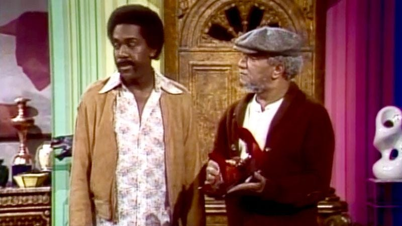 "Demond Wilson, Redd Foxx in ""The Piano Movers"" (Screenshot: YouTube)"