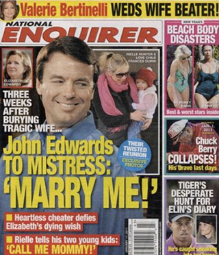 Illustration for article titled Enquirer Claims John Edwards, Rielle Hunter Engaged