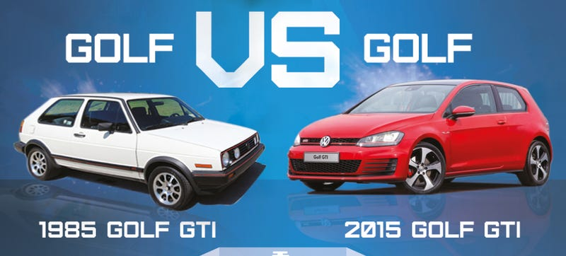 Illustration for article titled This 1985 GTI VS. 2015 GTI Chart Shows How Much More Car You Get Today