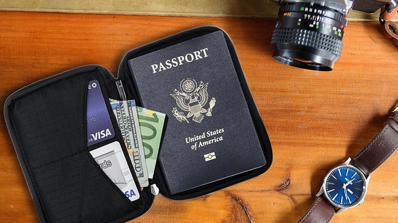 Zero Grid Passport Wallet | $11 | Amazon | Clip the $1 coupon and use code 546DC4AO