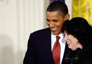 President Obama and Supreme Court Justice Sotomayor. (Getty)