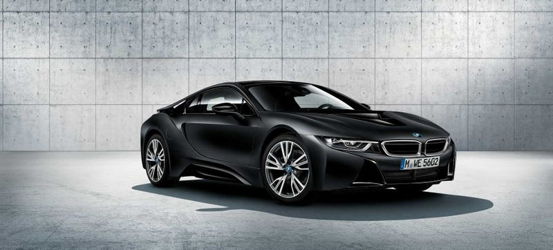 This year's Frozen Black BMW i8. Yes, they still do this. Photo: BMW