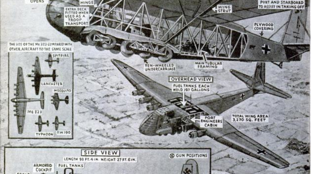 This Giant Nazi Plane Was The Largest Land-Based Transport Of WWII