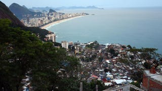 View of the beach at Ipanema taken from the top of the Vidigal favela in Rio de Janieiro June 23, 2014 VINCENT AMALVY/AFP/Getty Images