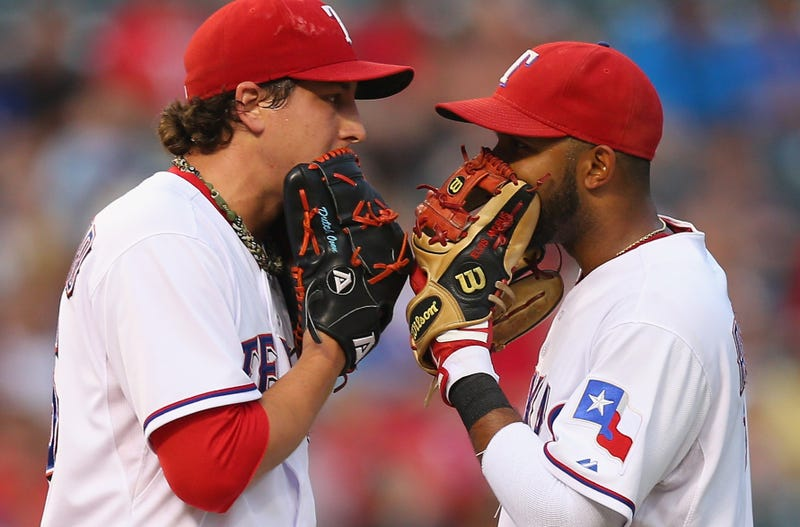 "Illustration for article titled Derek Holland And The Rangers Play A Game Called ""Fart Bottle Roulette"""