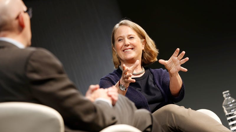 Google's Diane Greene speaking at a conference in 2016
