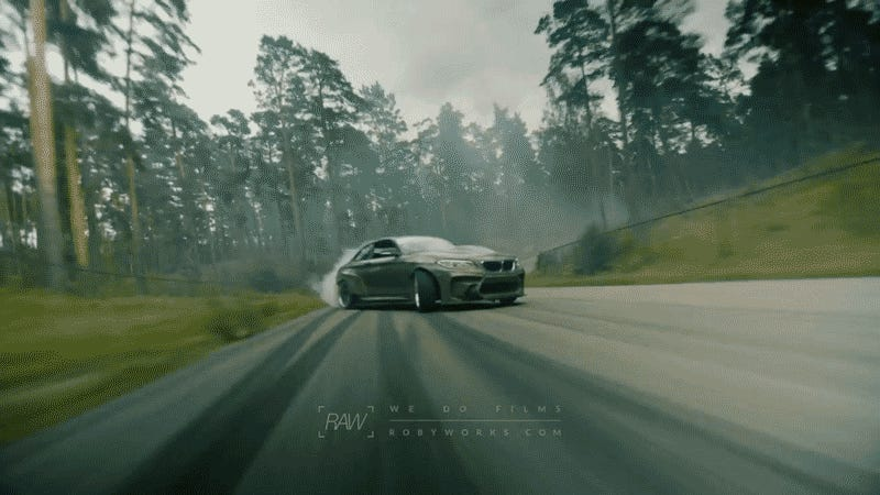 Watch This All-Kevlar-And-Carbon BMW M2 Shred Tires With An American V8