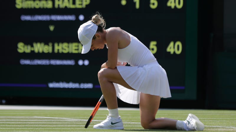 Illustration for article titled Top Seed Simona Halep Upset By Unseeded Hsieh Su-wei, Wimbledon's Women's Side Remains In Total Chaos