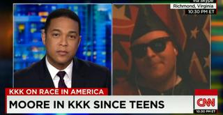 Don Lemon interviewing KKK leader James MooreCNN/YouTube screenshot