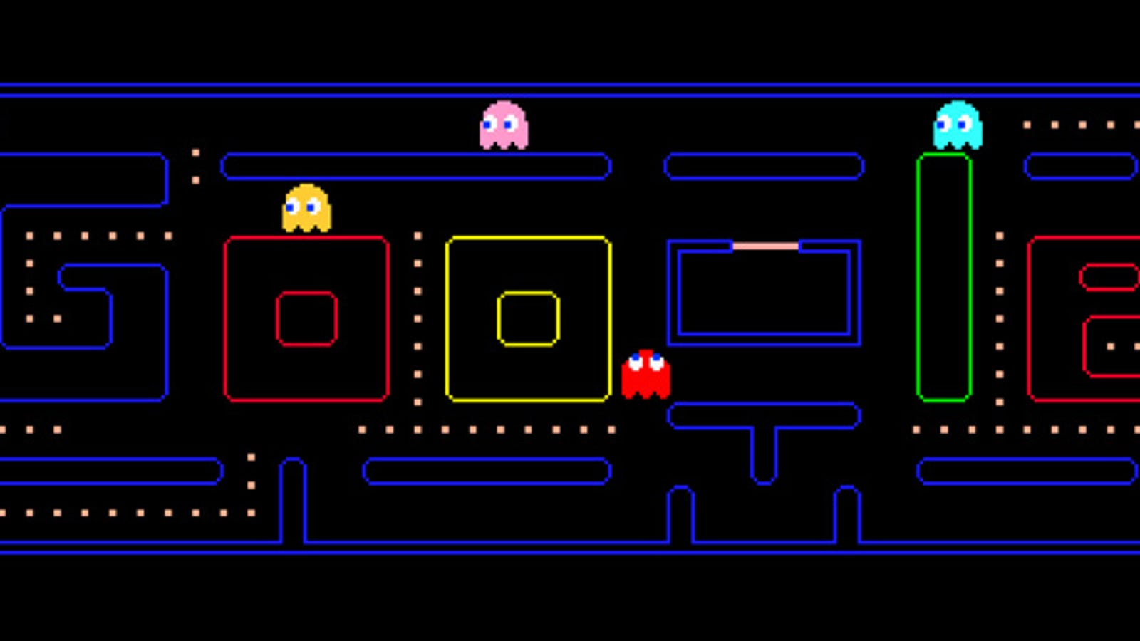 The New Google Doodle Is A FREAKING GAME OF PAC-MAN