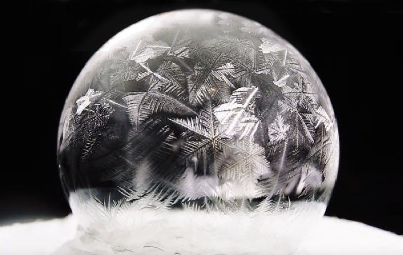 Illustration for article titled Savor the Ephemeral Beauty of These Frozen Soap Bubbles