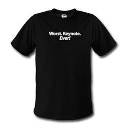 Illustration for article titled Worst. Keynote. Ever! Shirt Still Available, Topical