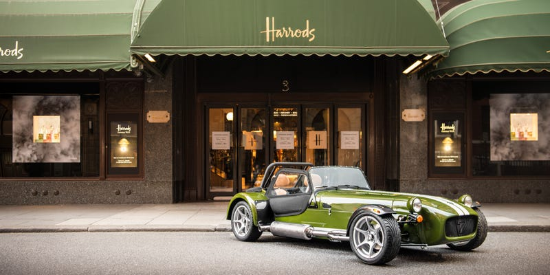 Illustration for article titled This Department Store Edition Caterham Is Utterly Ridiculous