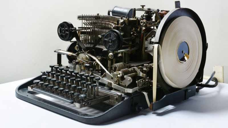 A Lozenz SZ42 cipher machine — not the device purchased on eBay. (Image: National Museum of Computing at Bletchley Park)