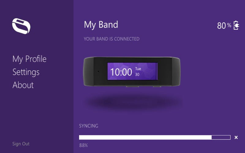 Illustration for article titled Here's Our First Glimpse of Microsoft's Fitness Band
