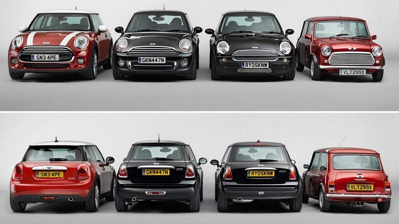 Every New Mini Has Grown Including The 2017 Cooper That Was Revealed Earlier Today But One Rarely A Sense Of Scale Growth Because You