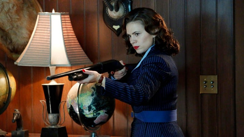 Illustration for article titled Agent Carter's Hayley Atwell lip-syncs to Aretha Franklin