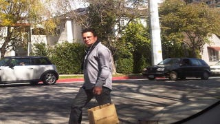 Illustration for article titled Jay Mariotti Is Getting A Tan, Designer Clothes, And A Fairly Mean Mug In Beverly Hills