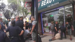 Footage of the July 2014 arrest of Eric Garner, during which he died of a heart attackYouTube screenshot