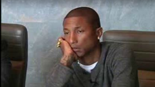 """Still of Pharrell Williams during his deposition for the """"Blurred Lines"""" lawsuitThe Hollywood Reporter"""
