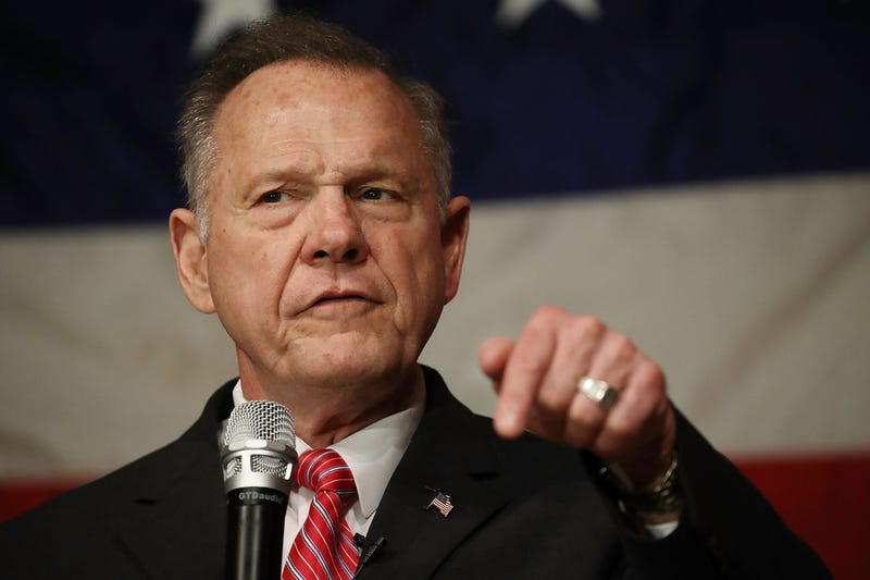 Republican senatorial candidate Roy Moore speaks during a campaign event at Oak Hollow Farm on Dec. 5, 2017, in Fairhope, Ala.  (Joe Raedle/Getty Images)