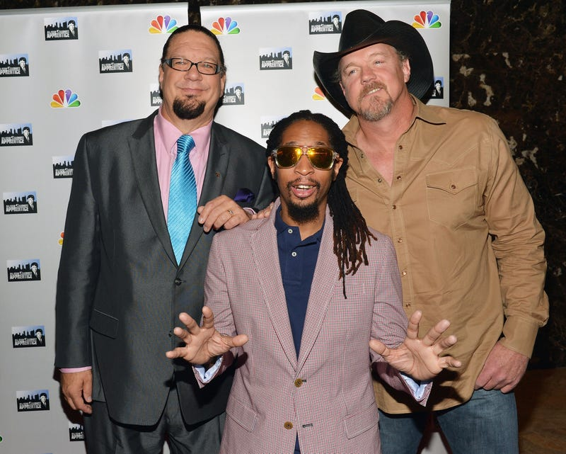 Penn Jillette, Lil Jon, and Trace Adkins attend 'All-Star Celebrity Apprentice' Red Carpet Event at Trump Tower on May 16, 2013, in New York City.