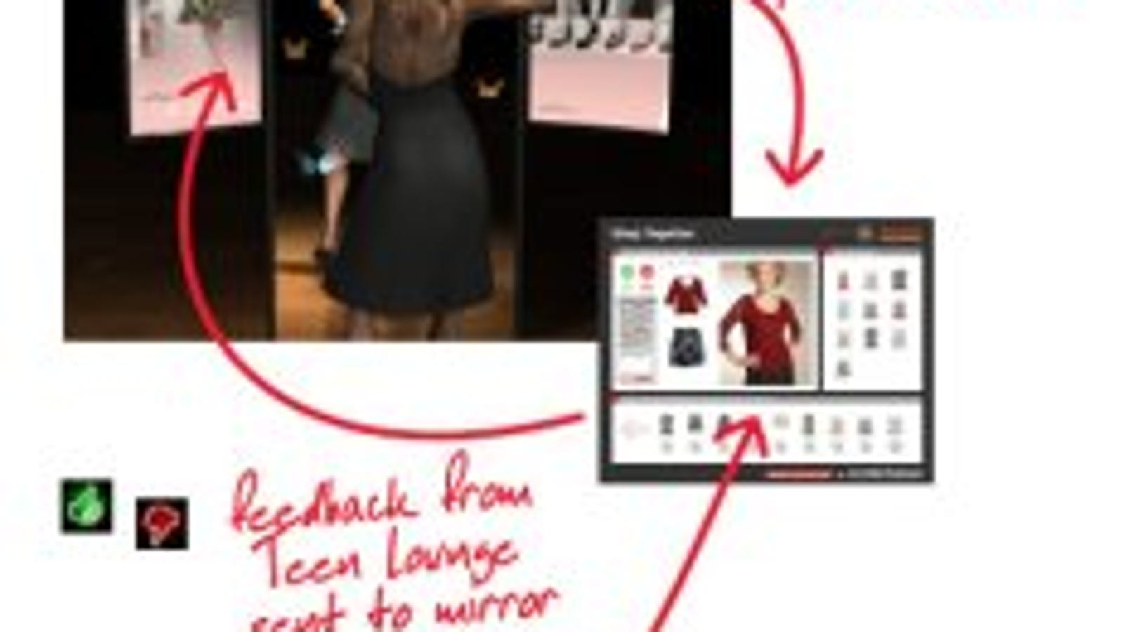 Magic Mirror Lets You Text From The Fitting Room