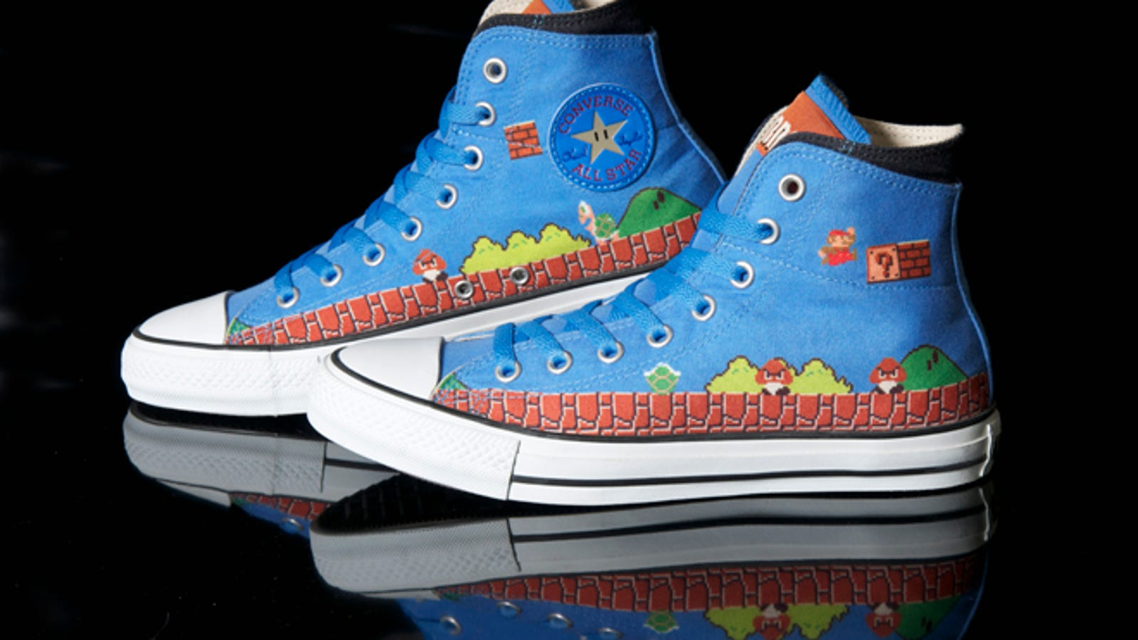 acef3c4822c6b4 Get A Good Look at Converse s Beautiful Super Mario Bros. Sneakers