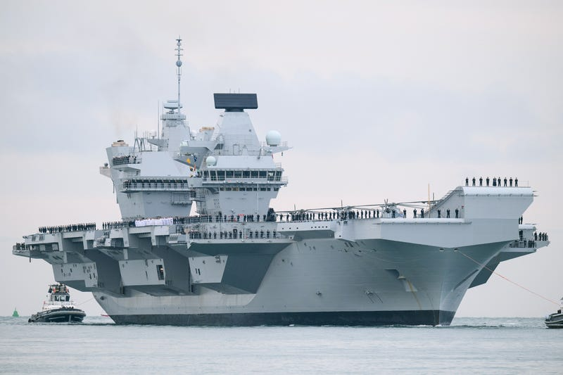 HMS Queen Elizabeth arrives at Plymouth, UK, August 2017.