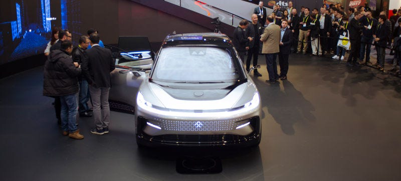 Faraday Future says this car will be in production in 2018. Photo: Raphael Orlove