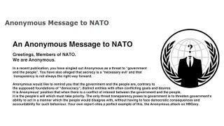 Illustration for article titled Anonymous to NATO: Do not Make the Mistake of Challenging Anonymous