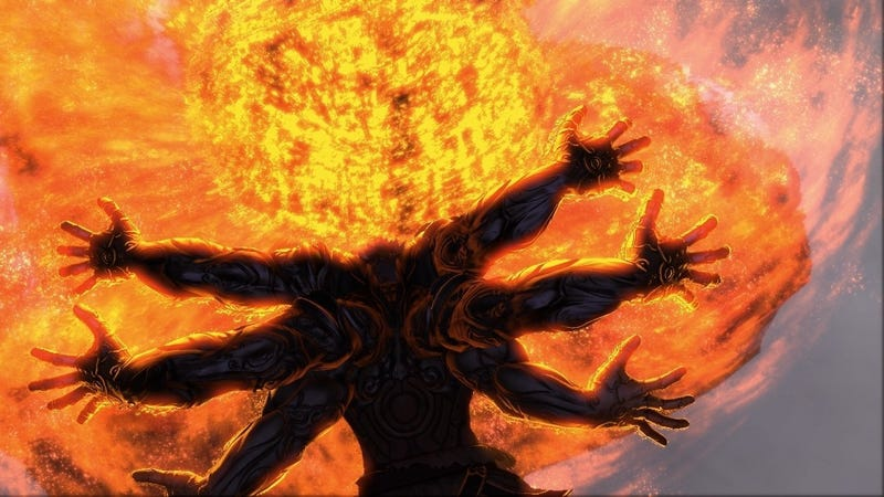 Illustration for article titled The Jaw-Dropping Battles of Asura's Wrath