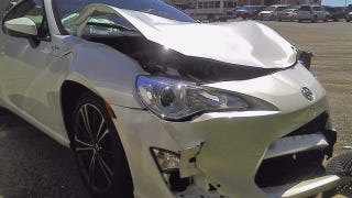 Illustration for article titled The Wait For The First Scion FR-S Crash Is Over