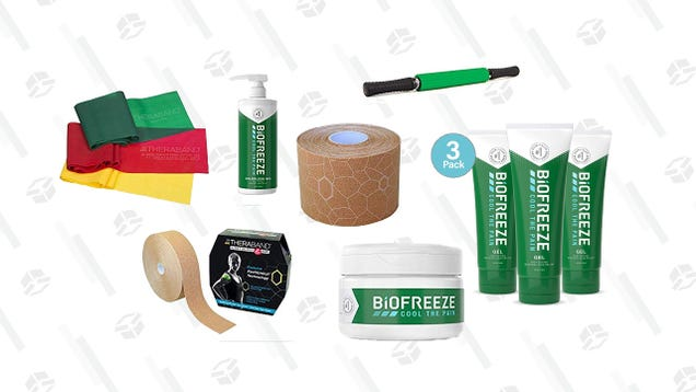 Upgrade Your Workouts With This Biofreeze and TheraBand Gold Box