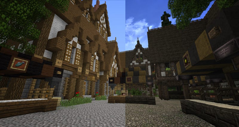 This is what a Minecraft resource pack can do to your world.
