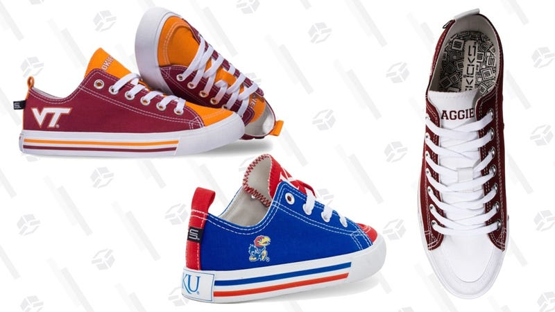 School-Branded Sneakers | $36 | Fanatics | Promo code KINJA40