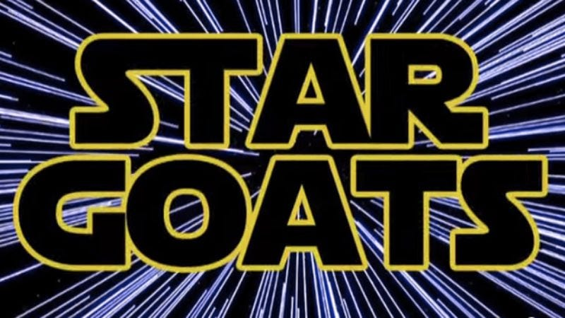 """Illustration for article titled Here are some goats screaming """"The Imperial March"""" from Star Wars"""