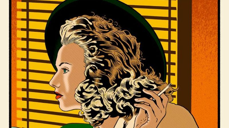"Illustration for article titled Scarlett Johansson is ""The Starlet"" in an exclusive Hail, Caesar! pop-art print"