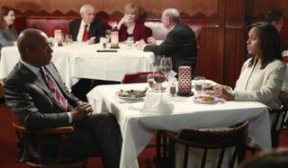 Joe Morton as Eli Pope and Kerry Washington as Olivia Pope in ScandalABC
