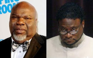 Bishop T.D. Jakes (left) is pulling for his brother of the cloth Eddie Long. (Getty Images)