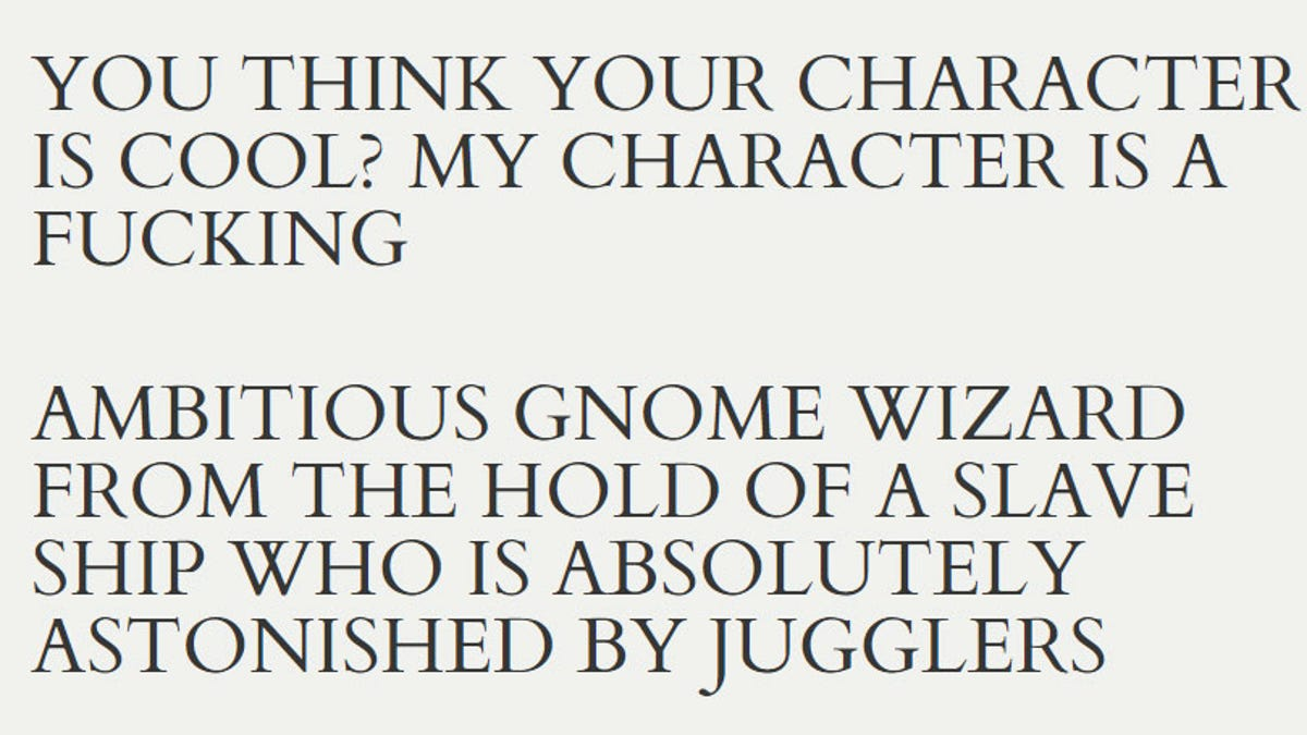 Let The Internet Create The Ultimate D&D Character