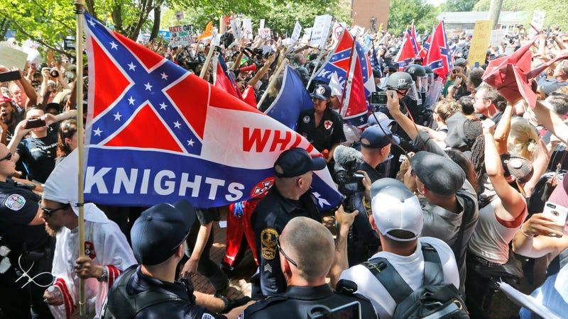A KKK rally in Charlottesville, Virginia in July 2017. Photo: AP
