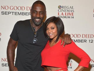 Idris Elba and Taraji P.Henson attend a special screening of Screen Gems' No Good Deed at Regal Cinemas L.A. Live Aug. 26, 2014, in Los Angeles.Charley Gallay/Getty Images for Screen Gems