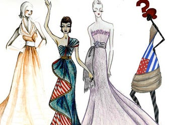 Illustration for article titled Imagine: A Project Runway Inauguration Dress For Michelle Obama