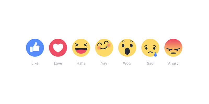 "Illustration for article titled Facebook Is Testing Six New Reaction Emoji Instead of a Single ""Dislike"" Button"