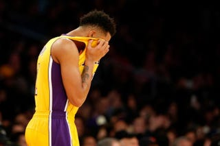 Yes, D'Angelo Russell, you should be ashamed.Sean M. Haffey/Getty Images