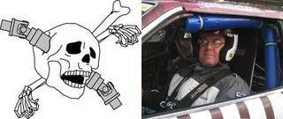 Illustration for article titled Creator Of Driveshaft-Through-The-Skull Design Takes 8th Place At LeMons South