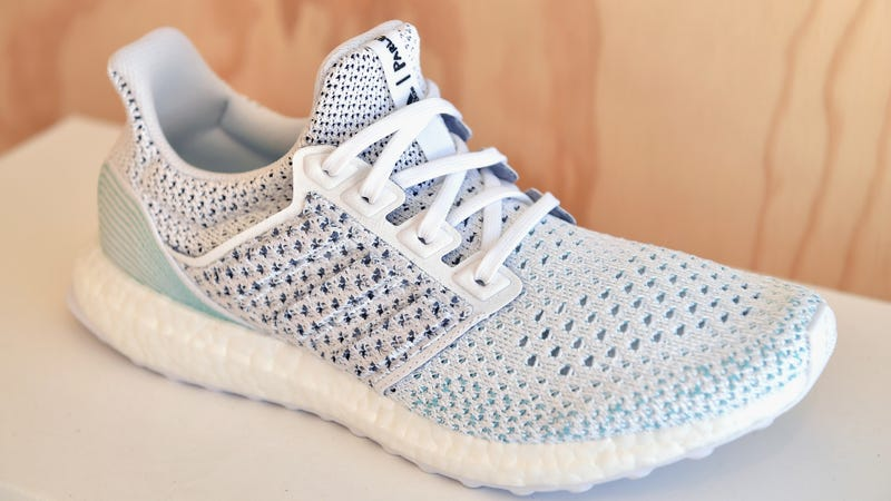 Adidas makes shoes from ocean plastic.