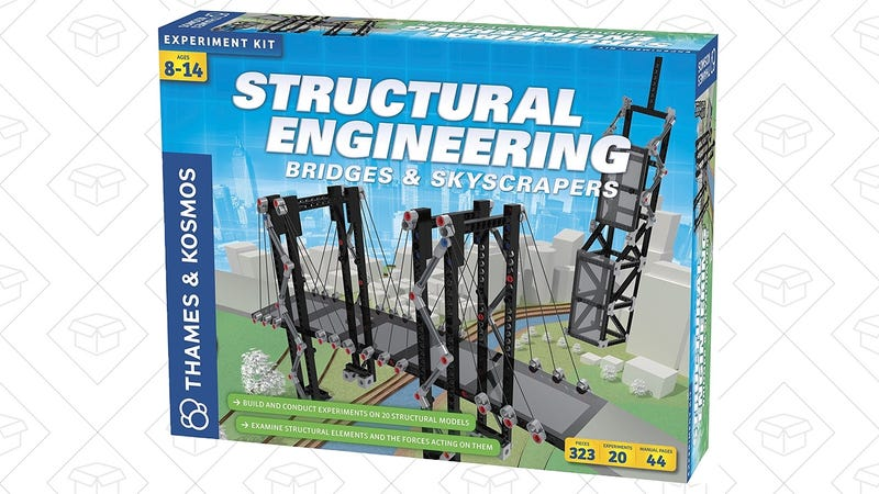 Thames & Kosmos Bridges and Skyscrapers Structural Engineering Set | $30 | Amazon