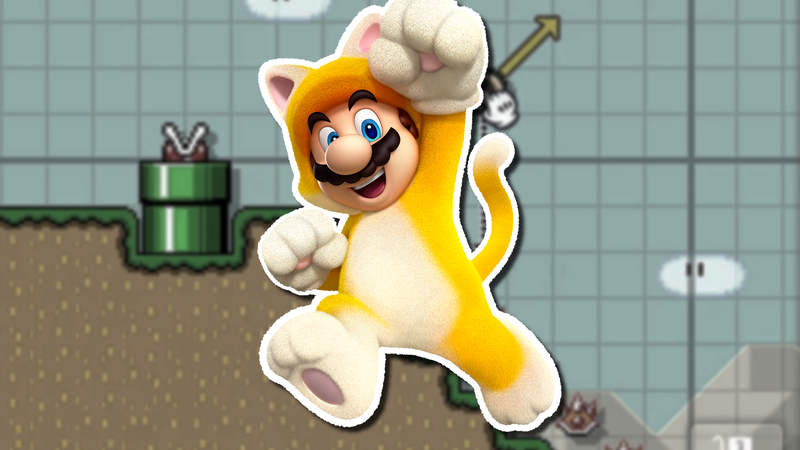 Illustration for article titled Mario Maker Contest: International Cat Day